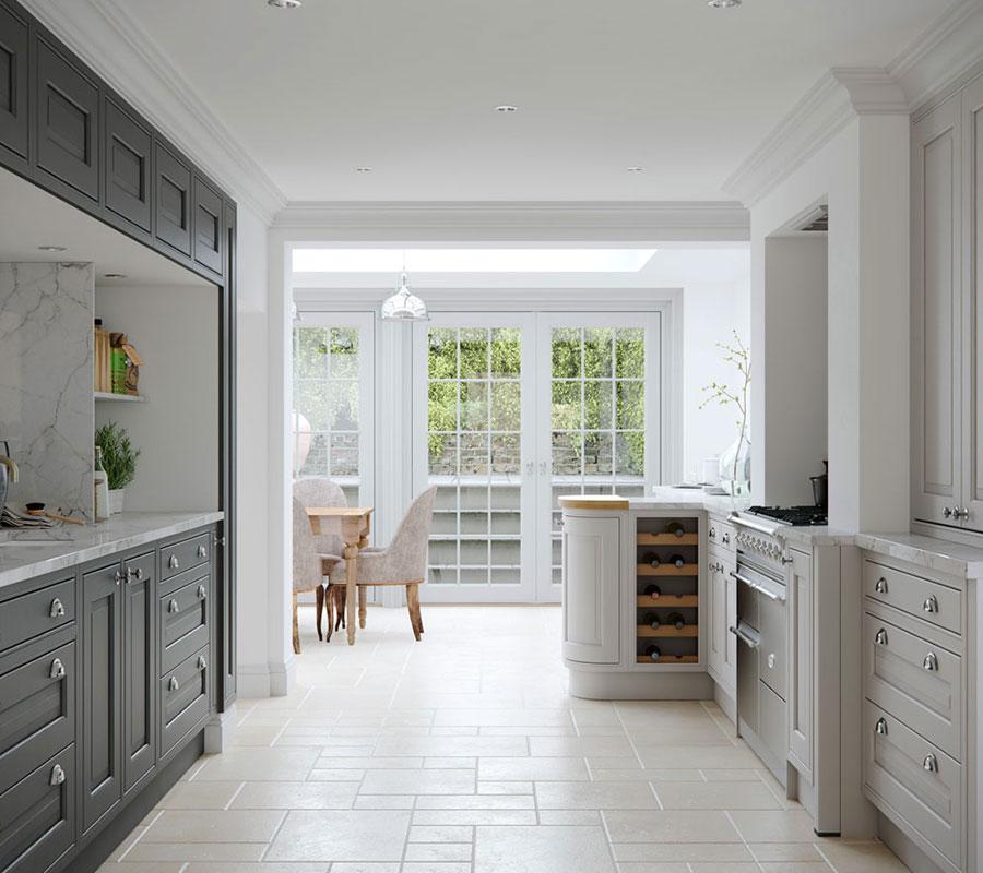 Slate Grey Kitchen: Eildon Light Grey & Slate Grey